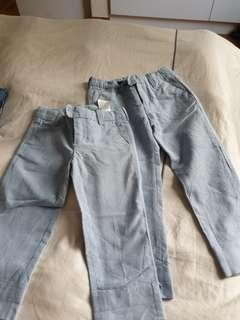 🚚 H&M Powder Blue Trousers (2 years and 4 years)