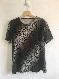 Preloved Leopard Print Blouse (Medium)
