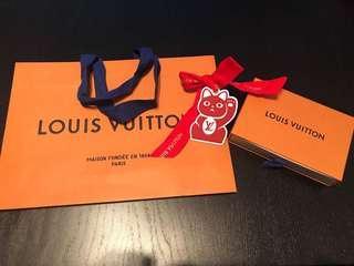 LV , Louis Vuitton 名牌紙袋, paper bag, tag, box