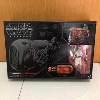 Star Wars Rey's Speeder Rey black series 6 inch jakku