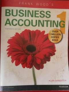 Business Accounting Frank Wood's 13th edition