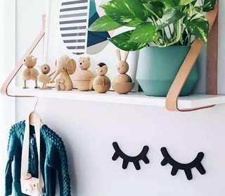 🚚 <pre-order> Wooden Eyelashes Wall Decor