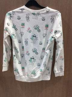 White Cactus Sweater