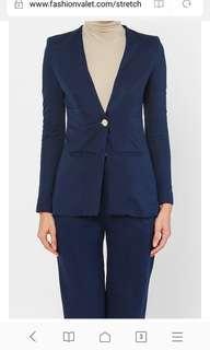 Olloum Stretch Slim Fit Jacket (Blue)