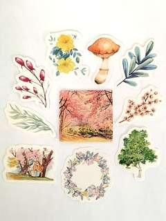🚚 Flora & Fauna sticker set