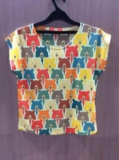 Cute Bear Top Colorful