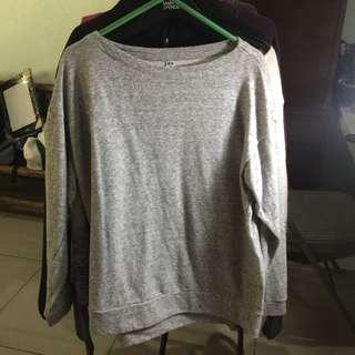 UNIQLO Gray Sweatshirt