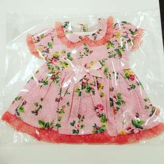Floral print dress for bears & dolls