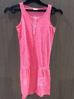 Hot Pink Neon Jumpsuit For Kids