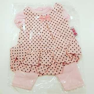 3pc mini clothes for dolls & bears