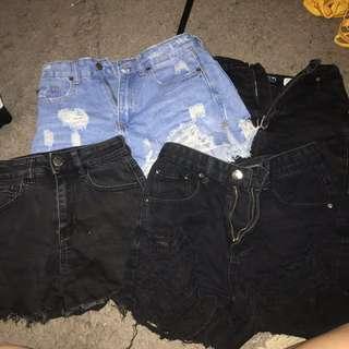 4x denim shorts bulk