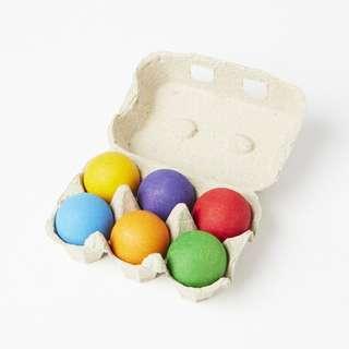 Grimm's 6 pc rainbow balls