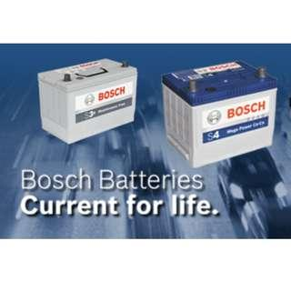 Bosch Battery With FREE INSTALLATION AND WARRENTY