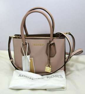 eb006db9673650 Michael Kors Mercer Kors Studio MD Messenger Handbag Leather-SOFTPINK