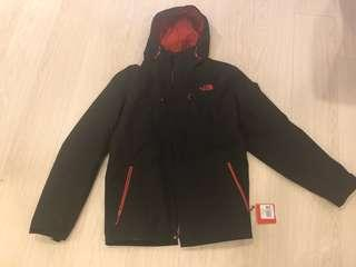 🚚 Northface全新黑色雙層式防風防雨外套