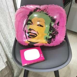 Marilyn Monroe Pink Pop Art PVC Cushion. Home Decor