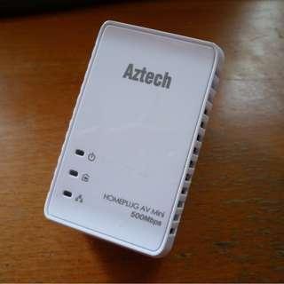 Aztech Homeplug AV Mini 500 Mbps HL-117E [a1]