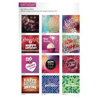 Greeting/Birthday card - Artwork design by Luxe Design (C)