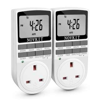 Smart Digital Timer Electric Plug | Programmable Switch with Anti-Theft Random Mode