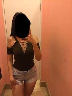 Lace top one piece f21