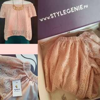 🆕️STYLE GENIE Off Shoulder Top / Korean blouse/ Sabrina Top