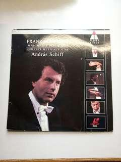 Laser Disc LD on Schubert's piano pieces recorded by Andras Schiff