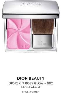 Diorskin rosy glow 002 lolli glow blush 胭脂