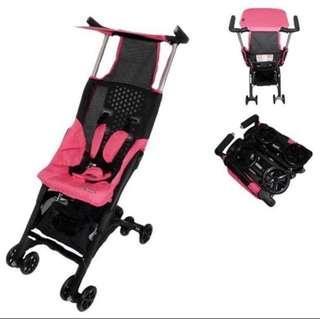 2nd hand Pink Pockit Stroller + BN bag  200sgd