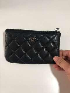 FAST DEAL (380.00) Authentic CHANEL O CASE CAVIER POUCH