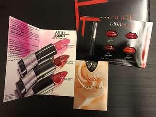 Dior Rouge唇膏 & Make up for ever💋& Cartier parfum sample 3⃣️件包郵