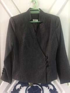 Grey Pants Suit Set- free shipping