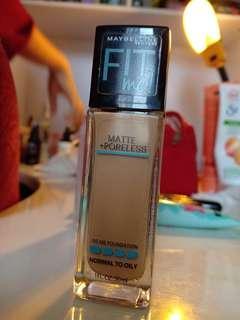 fit me! matte + poreless foundation maybelline