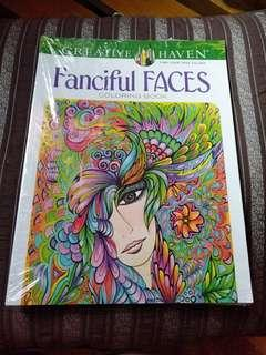 Fanciful Faces coloring book