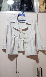 Light outerwear blazer beige with buttons