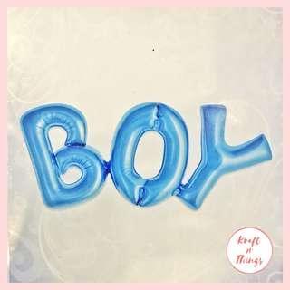 BOY/GIRL Letter Balloon