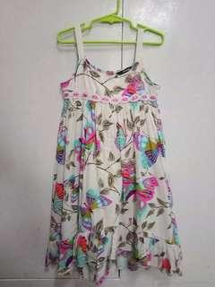 Butterfly print dress size 7 by GEORGE (uk)