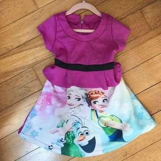 Frozen Dress 2-4yrs