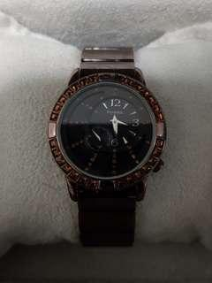 Amber crystal Fossil Watch for ladies - authentic