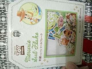 🚚 日本 刺繡貼紙 玩具總動員