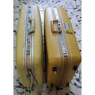 Samsonite and Corona vintage luggage (lot)