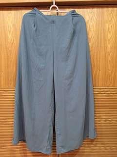 🚚 MeierQ水藍色/灰藍色寬褲