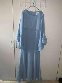 ALIA Light Blue Long Dress Size L