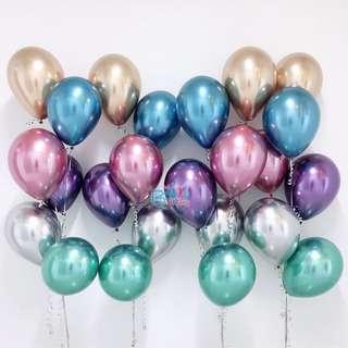 """🚚 11"""" Chrome Helium Balloons"""