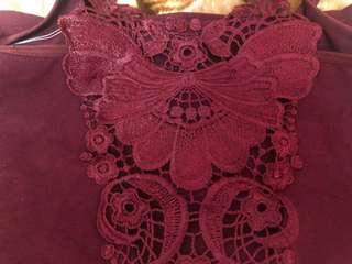 Butterfly embroidered Tank Top