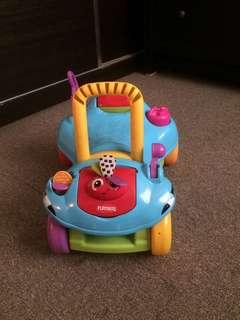 PLAYSKOOL 2 in 1 Ride On cum Walker not ikea step 2 fisher price push car