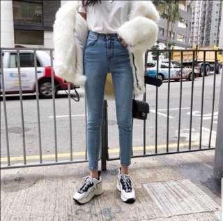 🚚 正韓3D車線高腰褲