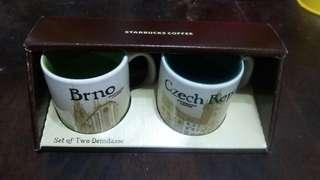 Starbucks Set pf Two Demitasse Coffee Mug