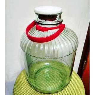 10L超大厚料壓花玻璃空酒呈