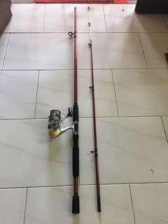 GP8000 8'Spinning Fishing rod and Shimano 4000 reel
