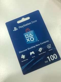 PlayStation Store Gift Card RM 100